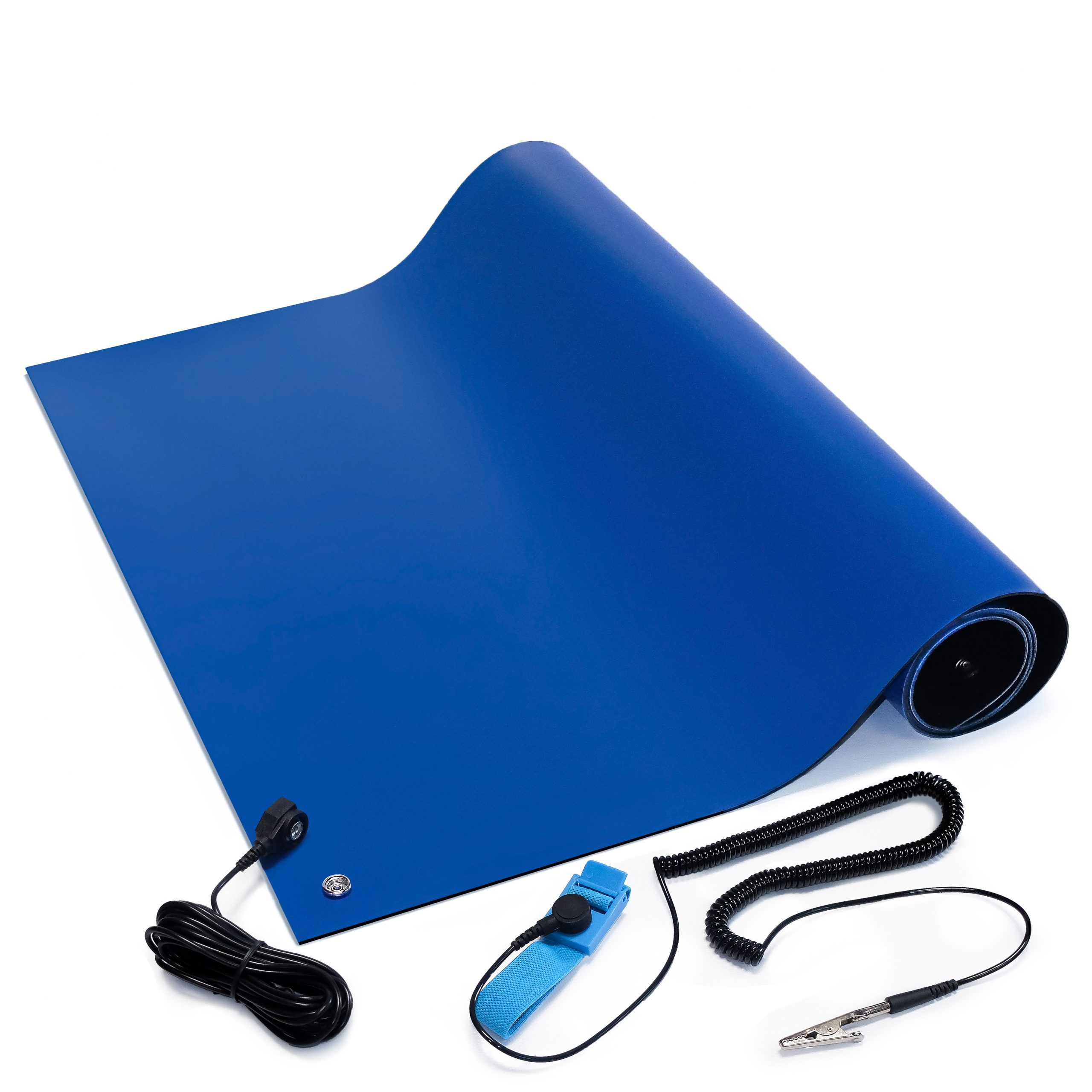 esd soldering mat kit blue
